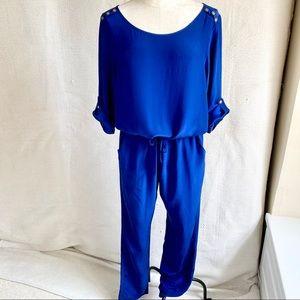Anthropologie MSilk Amanda Uprichard Jumpsuit Blue